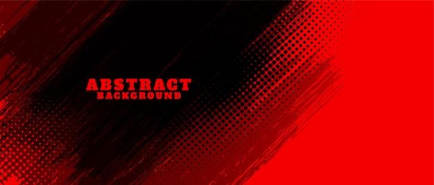 抽象的な赤と黒のグランジ背景デザイン