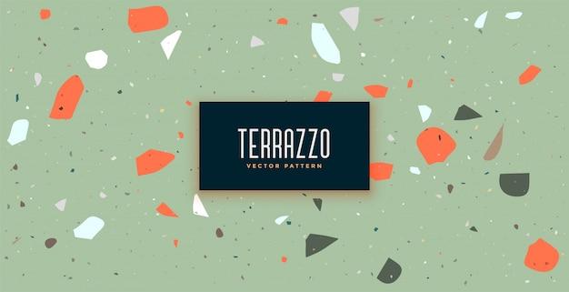 ヴィンテージの色と古典的なテラゾー床パターン背景