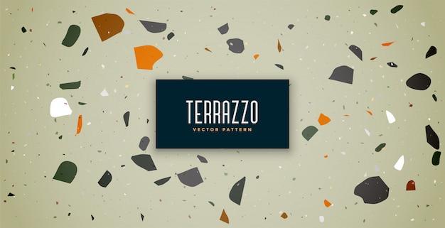 テラゾークラシックテクスチャフローリングパターン背景デザイン