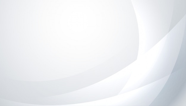 波線と光沢のある白と灰色の背景