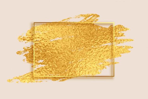 抽象的な黄金箔テクスチャ空のフレームの背景