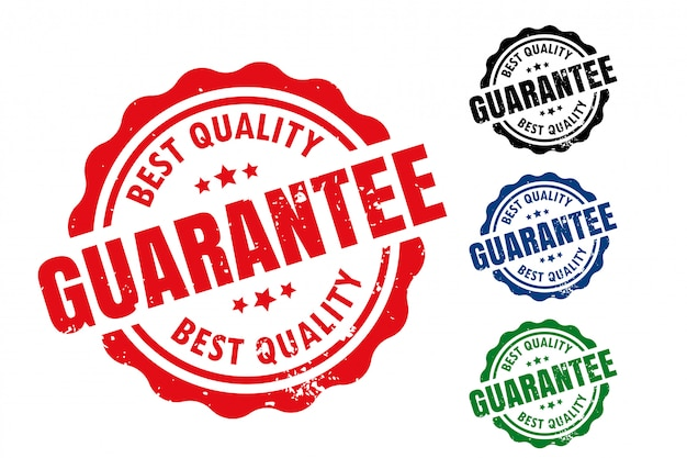 Лучшая гарантия качества комплект резиновых этикеток