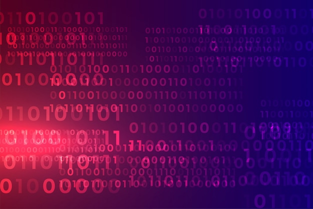 Цифровой двоичный код алгоритма потока матрицы фон