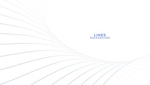 白い背景を流れる線のきれいなブレンド
