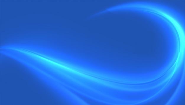 青い光沢のある波の渦巻き模様の背景の魅力的なデザイン