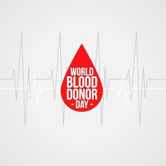 Всемирный день донора крови концепция фона дизайн