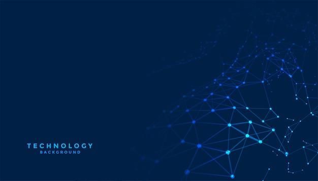 ネットワーク接続ラインと抽象的なデジタル技術の背景