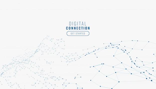 抽象的な白いデジタルネットワーク接続線背景