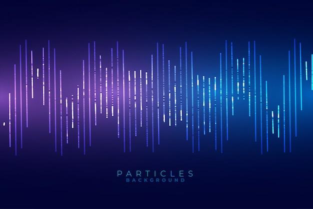 サウンド波形ブルーテクノロジースタイルの背景デザイン