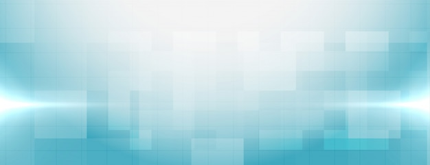 テキスト領域を持つスタイリッシュな青い医療バナー