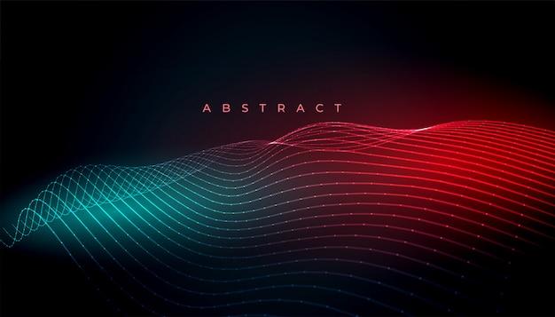 カラフルな抽象的な波線の背景デザインの壁紙