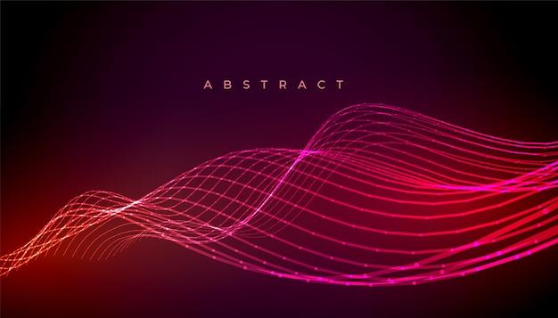 抽象的なネオンスタイリッシュな波線背景デザイン