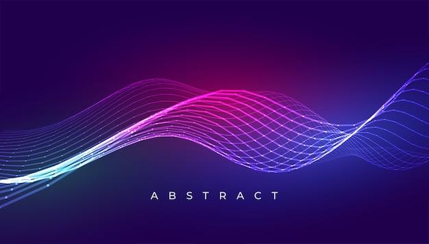エレガントな青い波線抽象的な背景デザイン