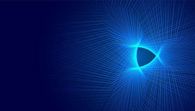 ラインと輝く抽象的な未来的なデジタル背景デザイン
