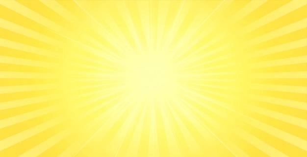 センターの輝く光の効果と黄色の背景