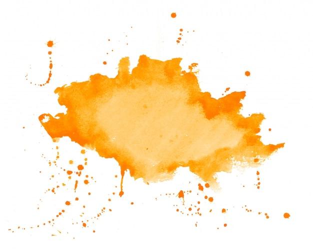 オレンジ色の水彩スプラッタ染色テクスチャ背景