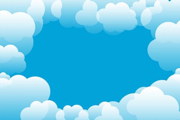 テキストスペースと青い空と雲の背景