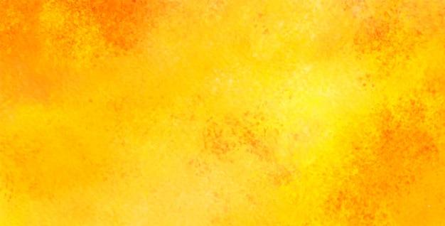 オレンジ色の黄色の水彩の概要