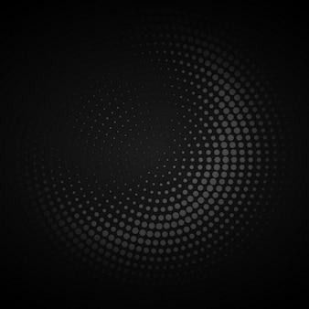 暗い円形ハーフトーンの背景