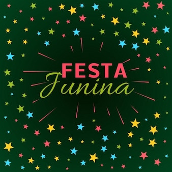 フェスタジュニーナラテンアメリカの休日祭のイラスト