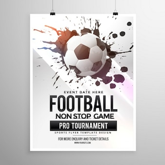 サッカーサッカーゲーム大会チラシパンフレットテンプレート