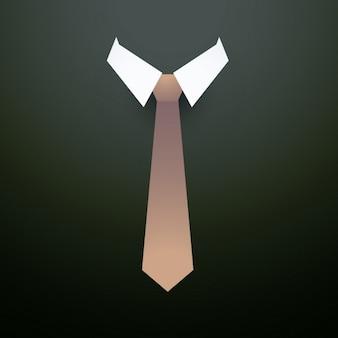 襟の背景とネクタイ