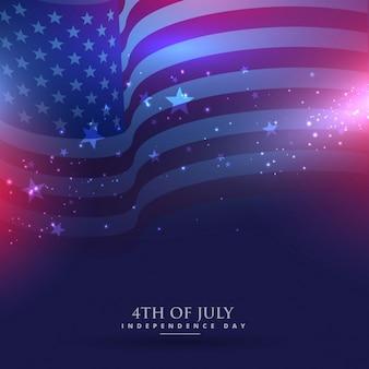 美しいアメリカの国旗の背景