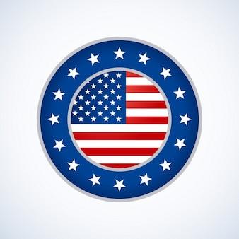 Американский флаг дизайн значок
