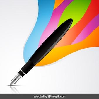 芸術的背景を持つ万年筆