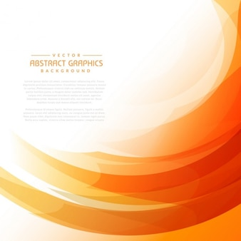 抽象的な形とオレンジの波状の背景