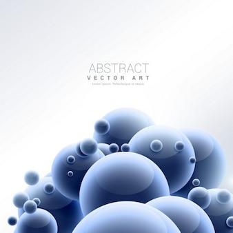 Абстрактный синий шар молекул фон