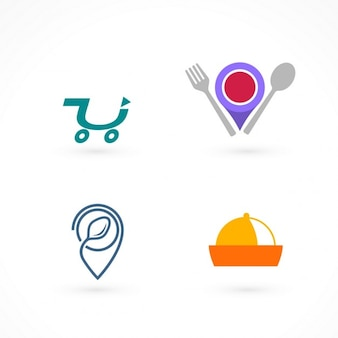 家庭での食品のための四つのロゴ