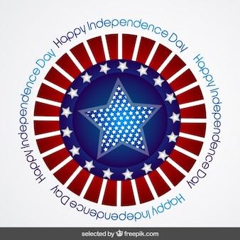 アメリカ独立記念日のバッジ