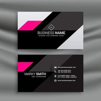 Современный стиль шаблон темный визитная карточка