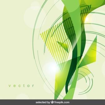 幾何学的な緑の抽象的な背景