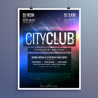 素晴らしいクラブミュージックパーティーのフライヤーの招待状テンプレート