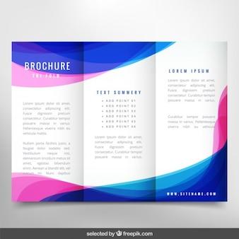 Волнистые современный брошюра