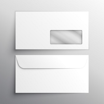 Шаблон макета реалистичный конверт