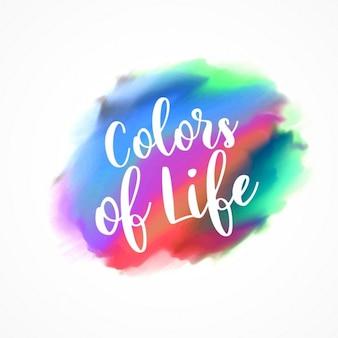 人生の色、水彩画