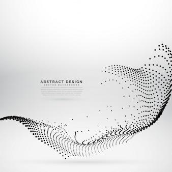 粒子で作られた抽象的な技術スタイルの波