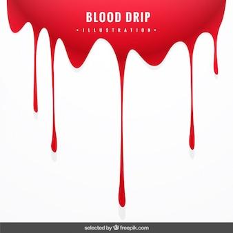 血液ドリップと背景