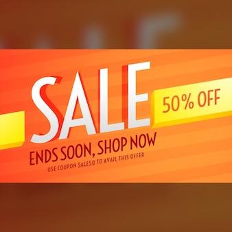 Оранжевый ваучер для продажи и продвижения бизнеса