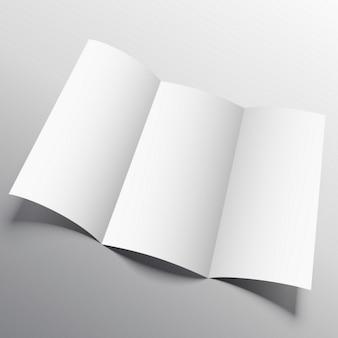 オープンパンフレット、モックアップ