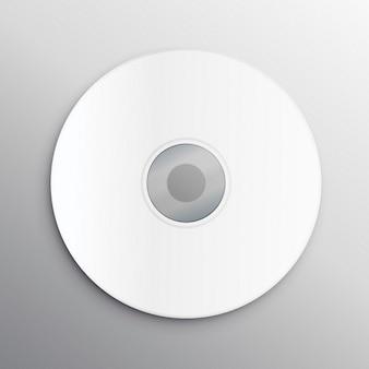 Пустой обложки компакт-диск шаблон дизайна макета