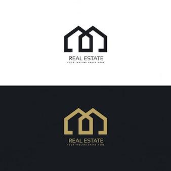 不動産会社のためのきれいな家のロゴ