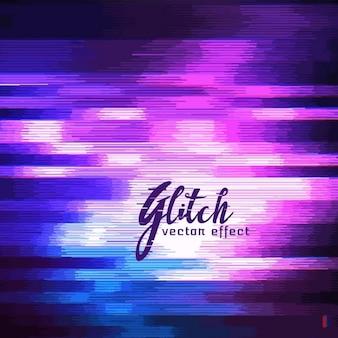 Фиолетовый абстрактный фон, эффект глюк