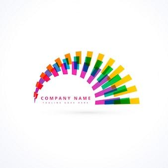 クリエイティブな活気に満ちた虹のロゴベクトル