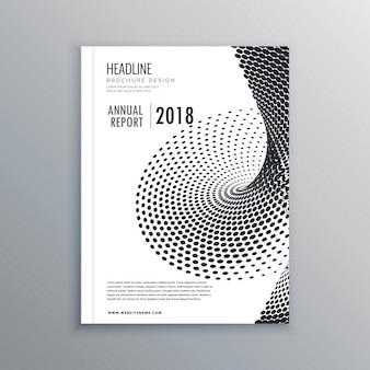 ハーフトーン効果のパンフレットチラシデザイン