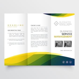 企業のための創造的なビジネスつ折りパンフレットチラシテンプレートデザイン