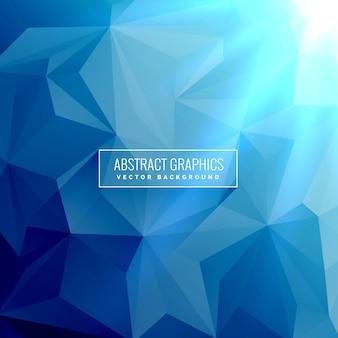 ローポリゴンの三角形の形状の抽象的な青色の背景